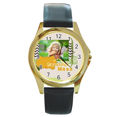 Kids By Kids   Round Gold Metal Watch   Ilztcnsrq1pe   Www Artscow Com Front