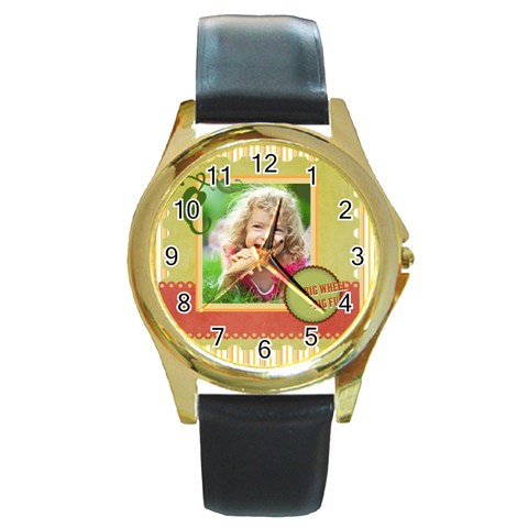 Kids By Kids   Round Gold Metal Watch   8l3chyqgms27   Www Artscow Com Front