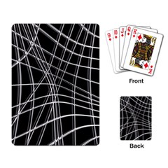 Black And White Warped Lines Playing Card by Valentinaart