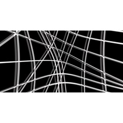 Black And White Warped Lines You Are Invited 3d Greeting Card (8x4) by Valentinaart