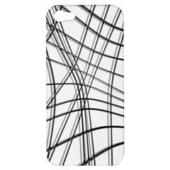 White And Black Warped Lines Apple Iphone 5 Hardshell Case by Valentinaart