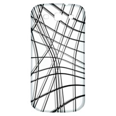 White And Black Warped Lines Samsung Galaxy S3 S Iii Classic Hardshell Back Case by Valentinaart