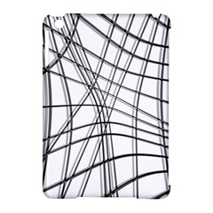 White And Black Warped Lines Apple Ipad Mini Hardshell Case (compatible With Smart Cover) by Valentinaart