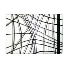 White And Black Warped Lines Ipad Mini 2 Flip Cases by Valentinaart