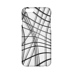 White And Black Warped Lines Apple Iphone 6/6s Hardshell Case by Valentinaart