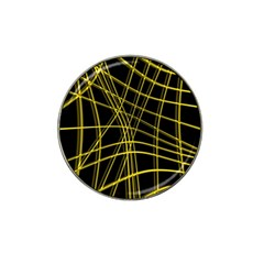 Yellow Abstract Warped Lines Hat Clip Ball Marker (10 Pack) by Valentinaart