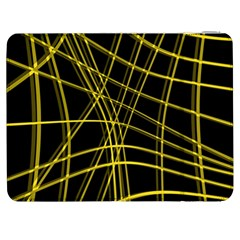 Yellow Abstract Warped Lines Samsung Galaxy Tab 7  P1000 Flip Case by Valentinaart