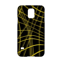 Yellow Abstract Warped Lines Samsung Galaxy S5 Hardshell Case  by Valentinaart