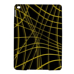 Yellow Abstract Warped Lines Ipad Air 2 Hardshell Cases by Valentinaart