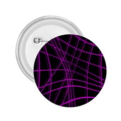 Purple And Black Warped Lines 2 25  Buttons by Valentinaart
