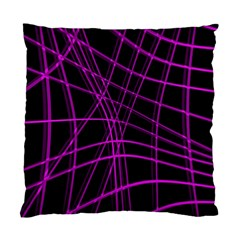 Purple and black warped lines Standard Cushion Case (Two Sides)