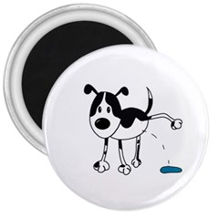 My Cute Dog 3  Magnets by Valentinaart