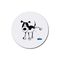 My Cute Dog Rubber Round Coaster (4 Pack)  by Valentinaart