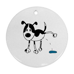 My Cute Dog Round Ornament (two Sides)  by Valentinaart