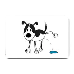My Cute Dog Small Doormat  by Valentinaart