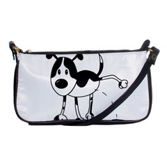 My Cute Dog Shoulder Clutch Bags by Valentinaart