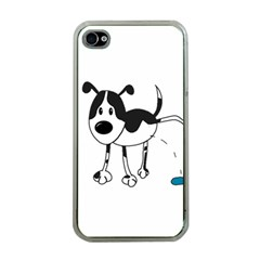 My Cute Dog Apple Iphone 4 Case (clear) by Valentinaart