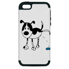 My Cute Dog Apple Iphone 5 Hardshell Case (pc+silicone) by Valentinaart