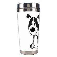 My Cute Dog Stainless Steel Travel Tumblers by Valentinaart