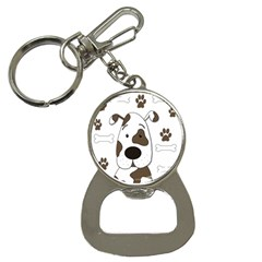 Cute Dog Bottle Opener Key Chains by Valentinaart