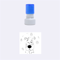 Cute Dog Rubber Round Stamps (small) by Valentinaart