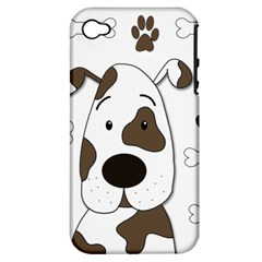 Cute Dog Apple Iphone 4/4s Hardshell Case (pc+silicone) by Valentinaart
