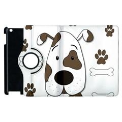 Cute Dog Apple Ipad 2 Flip 360 Case by Valentinaart