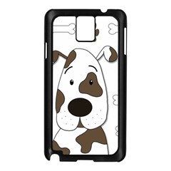 Cute Dog Samsung Galaxy Note 3 N9005 Case (black) by Valentinaart