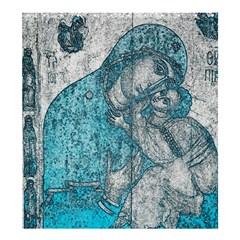 Mother Mary And Infant Jesus Christ  Blue Portrait Old Vintage Drawing Shower Curtain 66  X 72  (large)  by yoursparklingshop