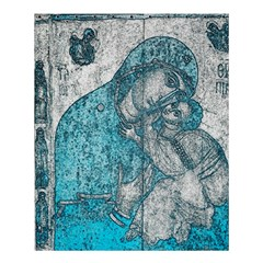 Mother Mary And Infant Jesus Christ  Blue Portrait Old Vintage Drawing Shower Curtain 60  X 72  (medium)  by yoursparklingshop