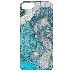 Mother Mary And Infant Jesus Christ  Blue Portrait Old Vintage Drawing Apple Iphone 5 Classic Hardshell Case by yoursparklingshop