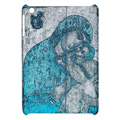 Mother Mary And Infant Jesus Christ  Blue Portrait Old Vintage Drawing Apple Ipad Mini Hardshell Case by yoursparklingshop