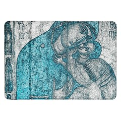 Mother Mary And Infant Jesus Christ  Blue Portrait Old Vintage Drawing Samsung Galaxy Tab 8 9  P7300 Flip Case by yoursparklingshop