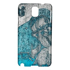 Mother Mary And Infant Jesus Christ  Blue Portrait Old Vintage Drawing Samsung Galaxy Note 3 N9005 Hardshell Case by yoursparklingshop