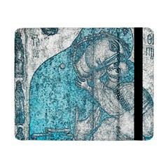 Mother Mary And Infant Jesus Christ  Blue Portrait Old Vintage Drawing Samsung Galaxy Tab Pro 8 4  Flip Case by yoursparklingshop
