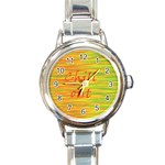 Chill out Round Italian Charm Watch Front