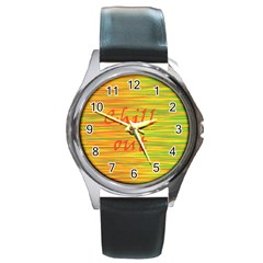 Chill Out Round Metal Watch
