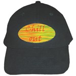 Chill out Black Cap Front