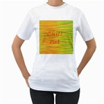 Chill out Women s T-Shirt (White) (Two Sided) Front