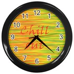 Chill out Wall Clocks (Black)
