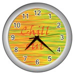 Chill out Wall Clocks (Silver)  Front