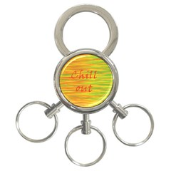 Chill Out 3 Ring Key Chains