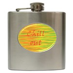 Chill out Hip Flask (6 oz) Front