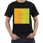 Chill out Men s T-Shirt (Black) (Two Sided)
