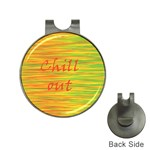 Chill out Hat Clips with Golf Markers Front