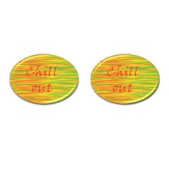 Chill Out Cufflinks (oval) by Valentinaart