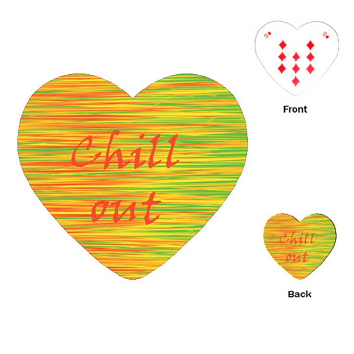 Chill out Playing Cards (Heart)