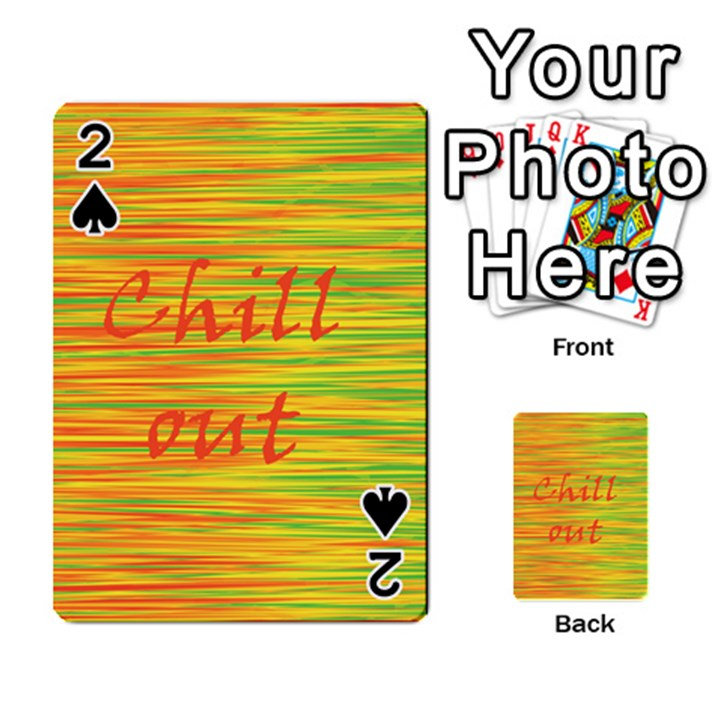 Chill out Playing Cards 54 Designs