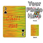 Chill out Playing Cards 54 Designs  Front - Spade3