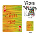 Chill out Playing Cards 54 Designs  Front - Heart2